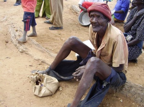 This old man from the north eastern Uganda district of Katakwi deserves more than just waiting for food aid to survive. He deserves a decent life from both his community and government. The children below too deserve a better life and future beyond eking for a living by the roadside.