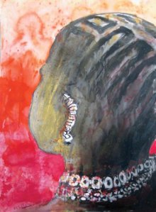 Work by Abdul Qader Bakheit on display at Dar Al Anda Art Gallery until May 27 (Photo courtesy of Dar Al Anda Art Gallery)